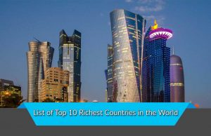 List of Top 10 Richest Countries in the World