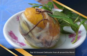 Top 10 Grossest Delicacies from all around the World