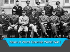 Name of Worst Generals World War I